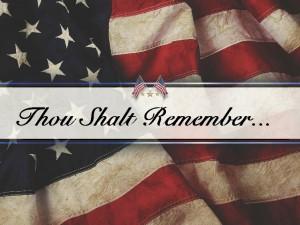 thou shalt remember